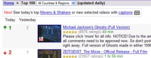 Ghosts Top Google Video Feb 28